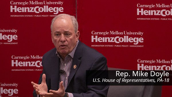 Representative Mike Doyle speaks at Heinz College