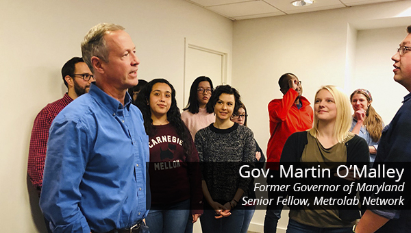 Former MD Governor Martin O'Malley speaks to Heinz College DC students