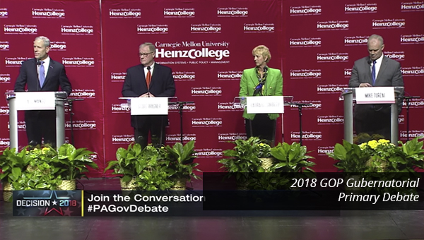 Republican Candidates for Governor of PA debate at Heinz College