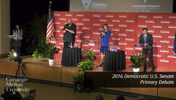 Democratic Candidates for US Senate debate at Heinz College
