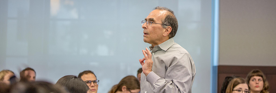Professor Dan Nagin speaking in a classroom