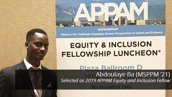 Heinz College student Abdoulaye Ba at the APPAM conference