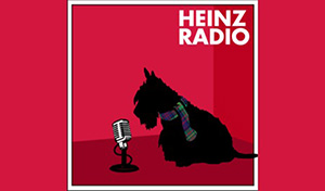 Heinz Radio logo, scotty dog with microphone