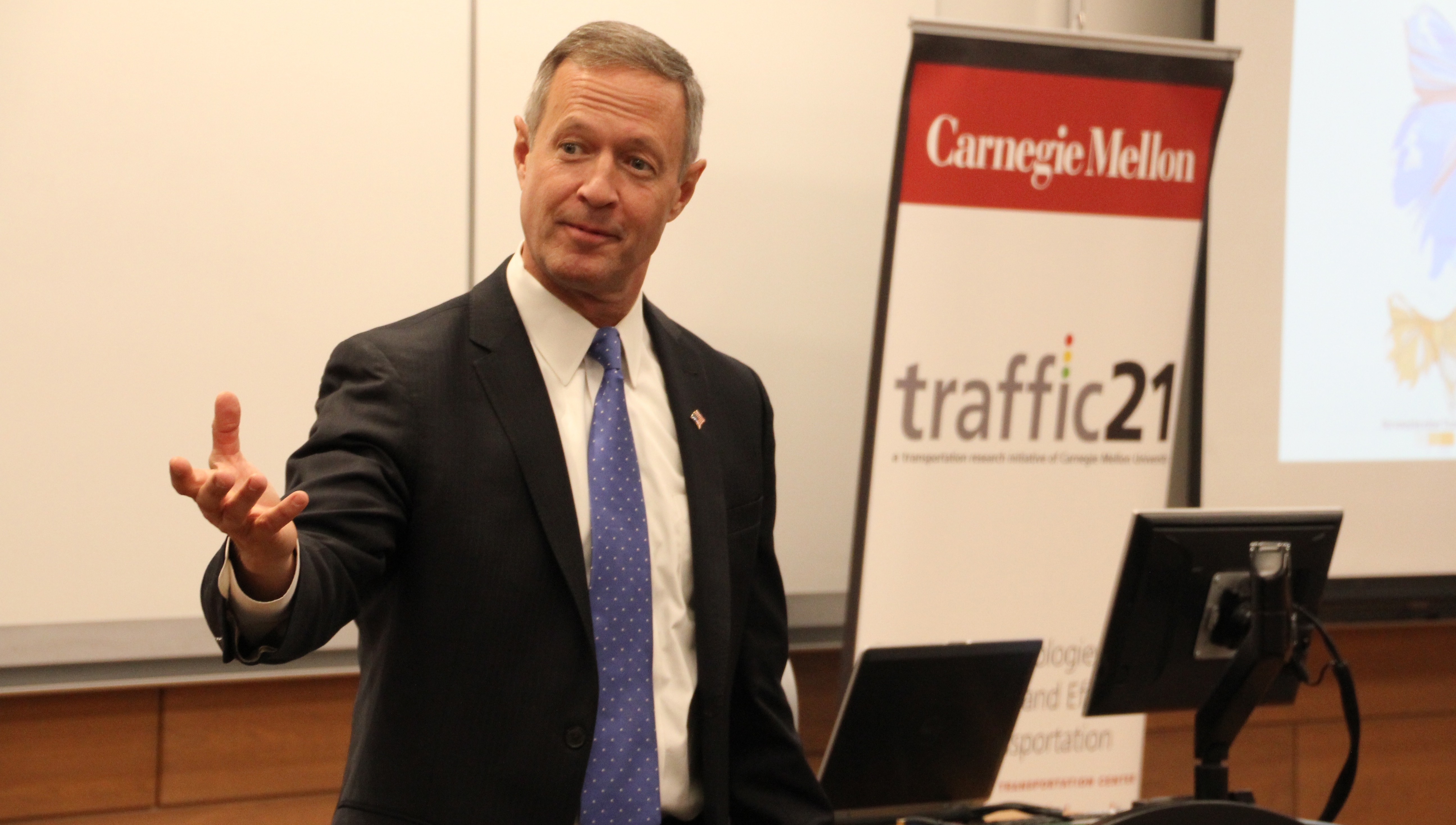 Martin O'Malley speaking at Heinz College