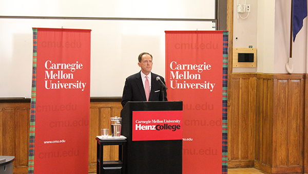 Senator Pat Toomey at Heinz College