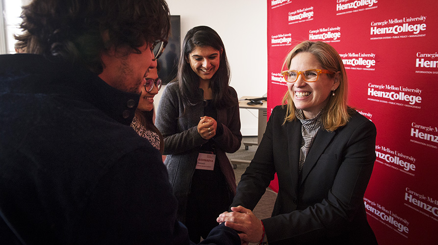 Carmen Yulin Cruz meeting with students at Heinz College
