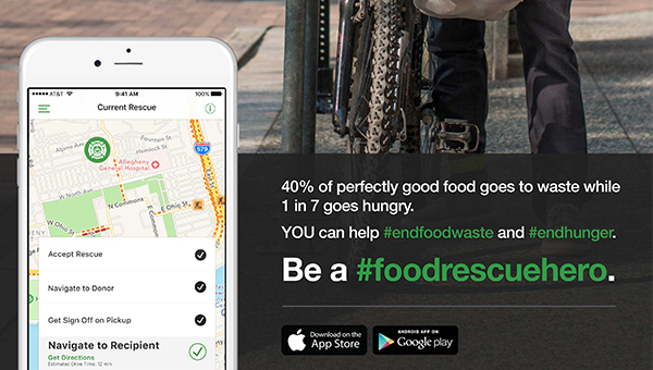 Information about the Food Rescue Hero app