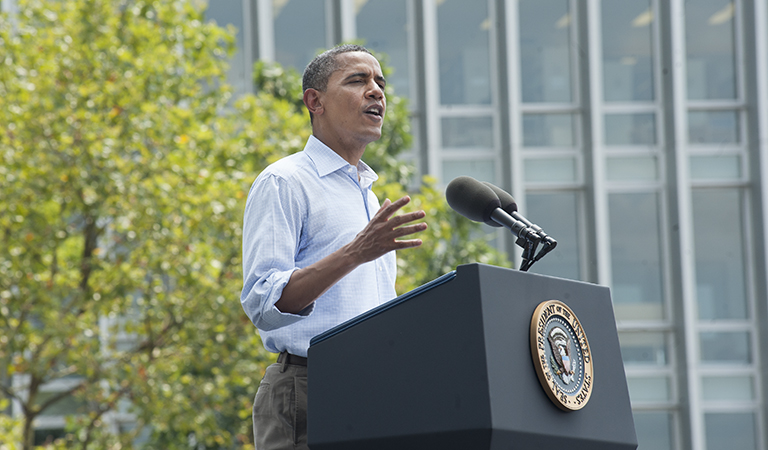 Barack Obama speaking at CMU
