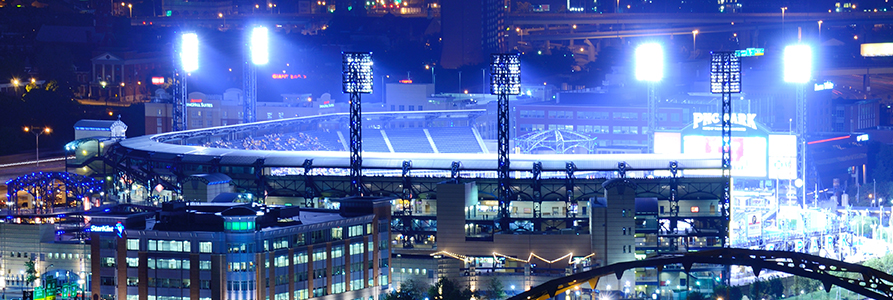 PNC Park during a night game