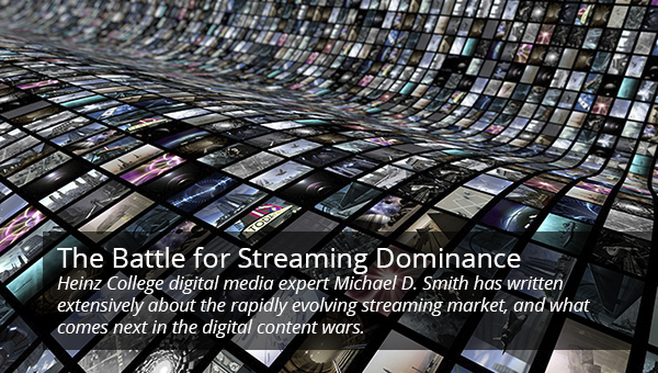 graphic concept of a wave of streaming services growing