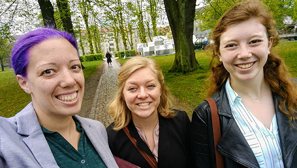 Students at a conference in Denmark