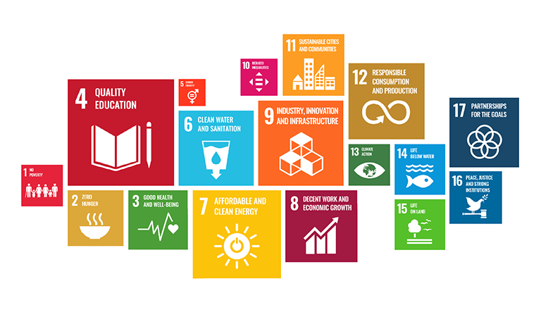 Graphic image showing icons of the sustainable development goals
